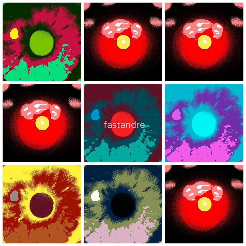 2001 AI HAL v Dave Bowman Tic Tac Toe Harmony Pop Art by fastandre