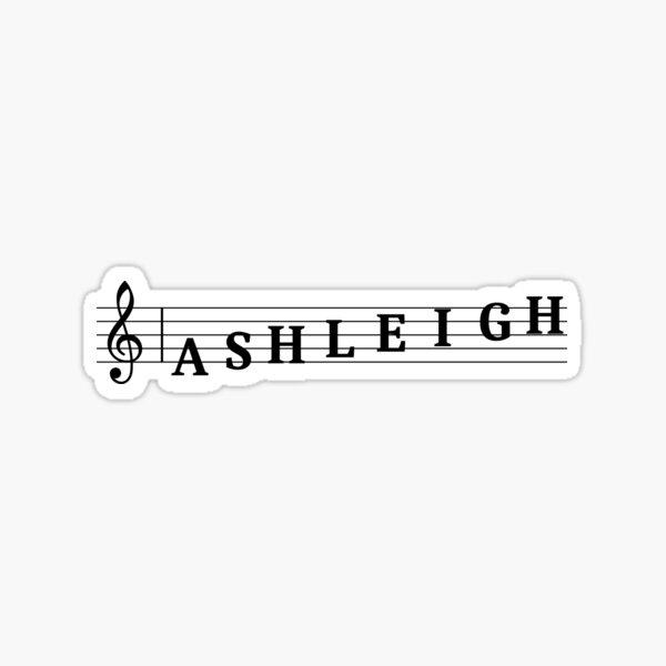 Name Ashleigh Sticker