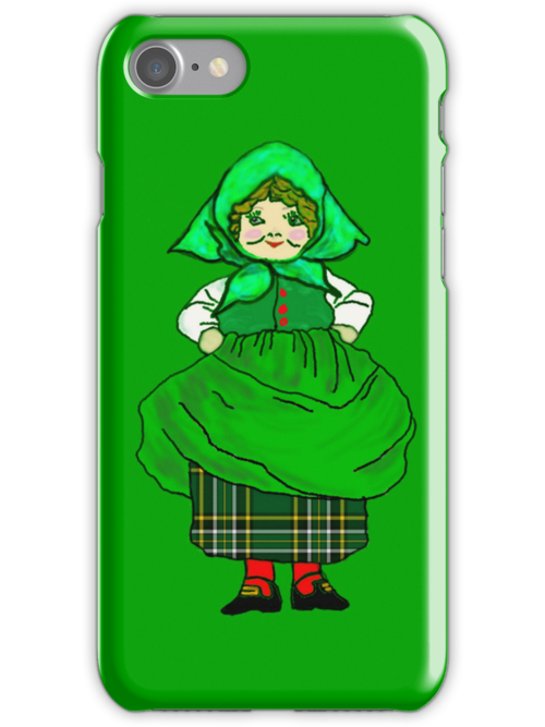 Irish Patty All Dressed Up for St Pat's Day iPhone Case by Dennis Melling