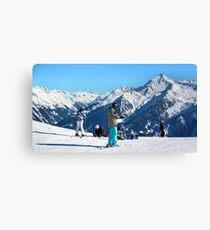 Skiing the Penken, Mayrhofen Leinwanddruck