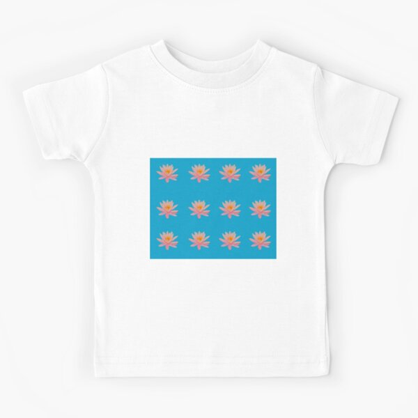 Water Lily in Blue Kids T-Shirt