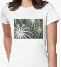 Sharp Beauty - Elegantly Ordered Cactus Needles Women's Fitted T-Shirt