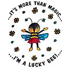 I'm a Lucky Bee: Cute Whimsical Bee Illustration Watercolor by mellierosetest