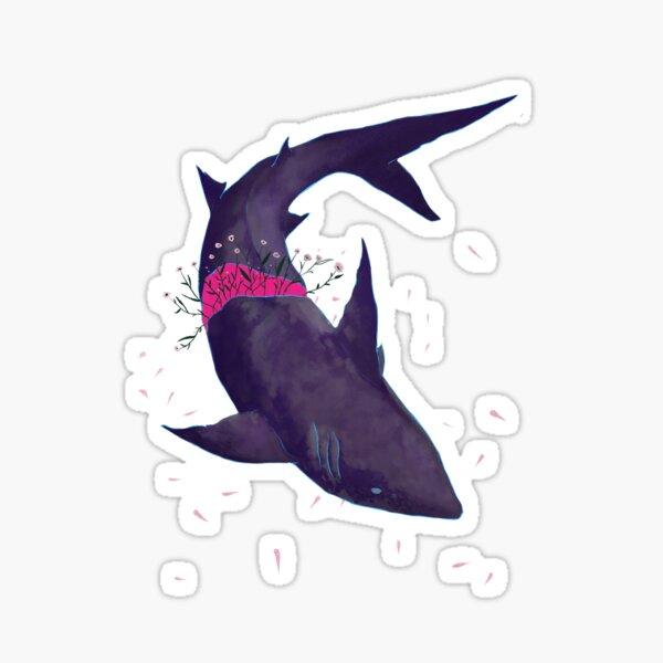 Purple shark Sticker