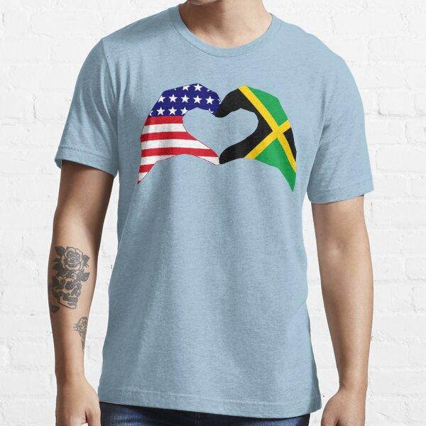 We Heart USA & Jamaica Patriot Flag Series Essential T-Shirt