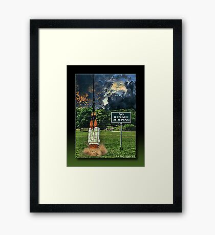 No Bungee Jumping Framed Print