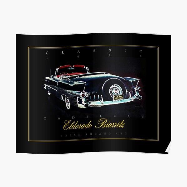 Vintage Classic Poster Retro Wall Art of Cadillac Eldorado 1959 motor car