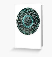 green circle mosaic Greeting Card