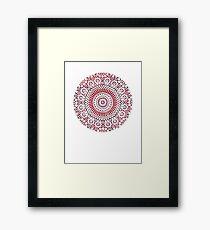 red capricorn Framed Print