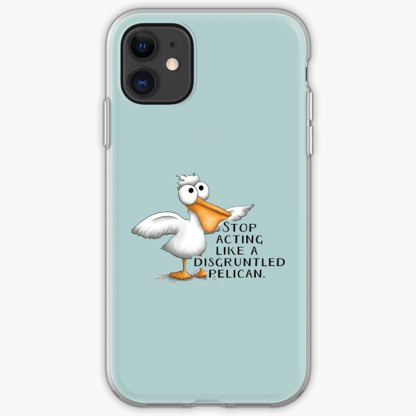 Funny Disgruntled Pelican iPhone Soft Case
