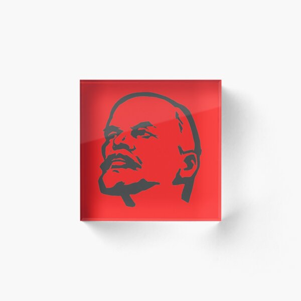 Vladimir Lenin Silhouette Acrylic Block