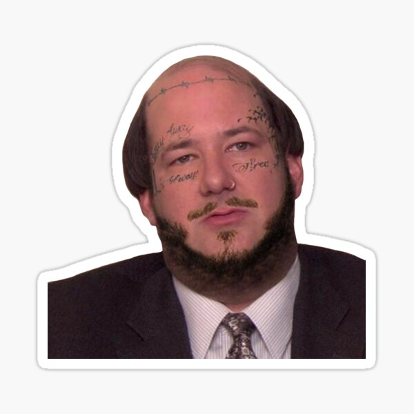 Kevin Malone dressed as Post Malone Sticker