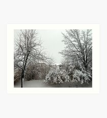 March Comes in Like a Lion  Art Print