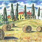 Tuscan Hillside by mleboeuf