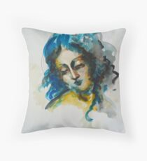 """Woman's head"" Throw Pillow"