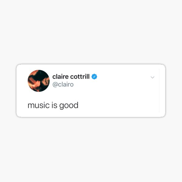 clairo tweet Sticker