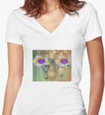 Nature. mother nature Women's Fitted V-Neck T-Shirt