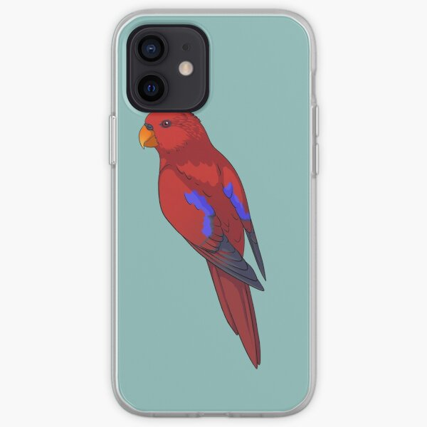 Clingy Red Lory iPhone Soft Case