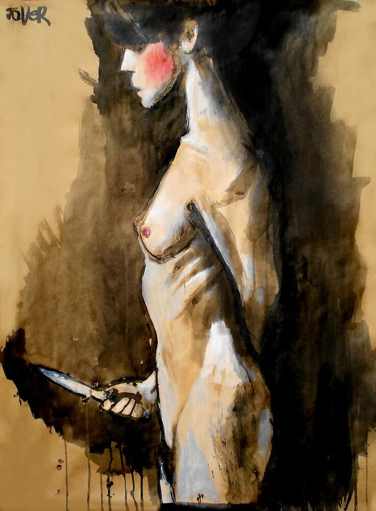 the knife (after Jan Saudek) by Loui  Jover