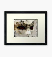 A Transparent Masquerade Framed Print