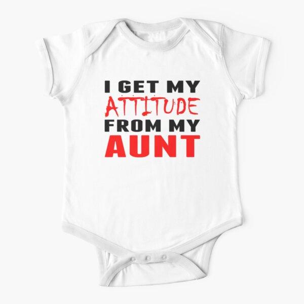 Printed Baby Grow I Get My Ninja Powers From My Aunt