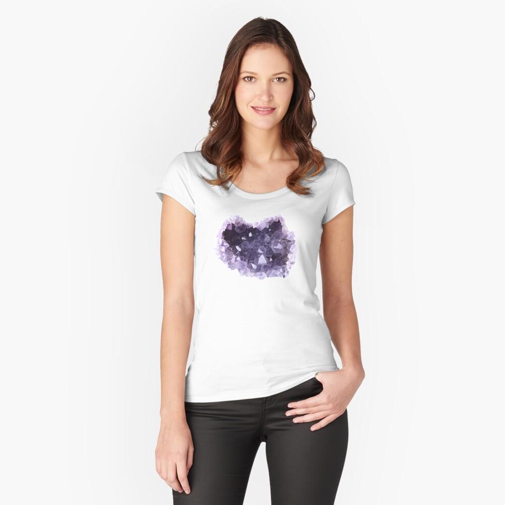 Geode Tailliertes Rundhals-Shirt