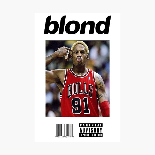 Dennis Rodman Bulls Blonde Cover Art Photographic Print