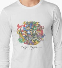 Penguin Mansion - Circle of Characters Long Sleeve T-Shirt