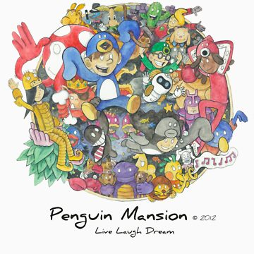 Penguin Mansion - Circle of Characters by cmgerard