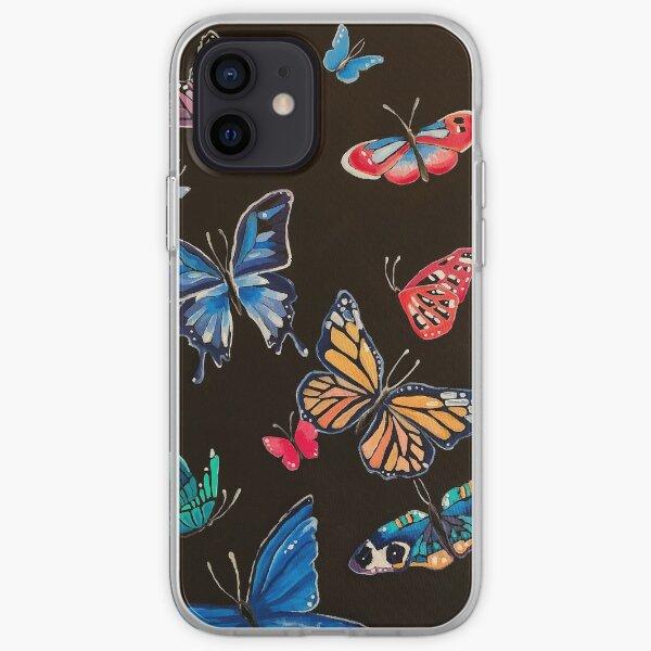 Oil Paint Butterflies iPhone Soft Case