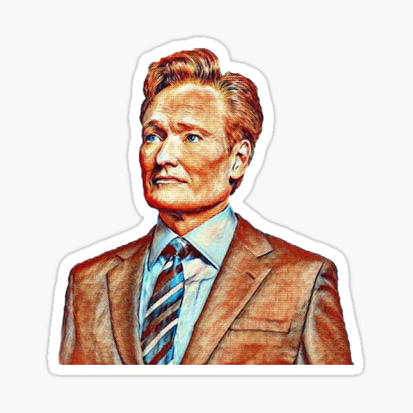 TBS Conan O'Brien Van Gogh Style Sticker