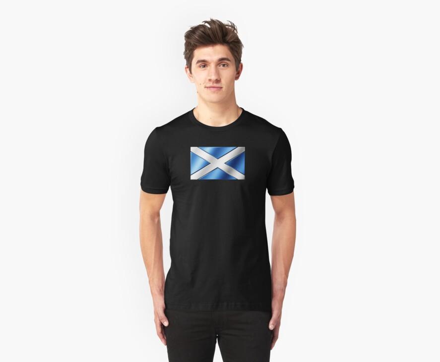 Scottish Flag - Scotland - Metallic by graphix