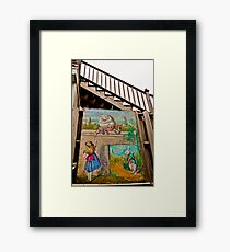 Alice And Humpty Dumpty Stairs Framed Print