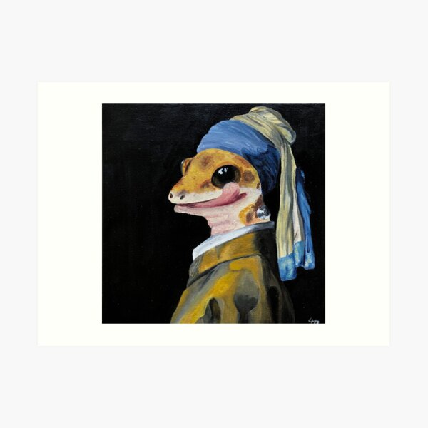 """Geck with a Pearl Earring"" Art Print"