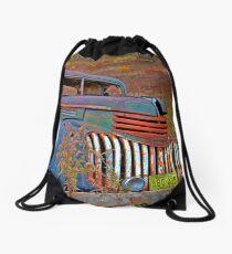 Ghost Truck Drawstring Bag