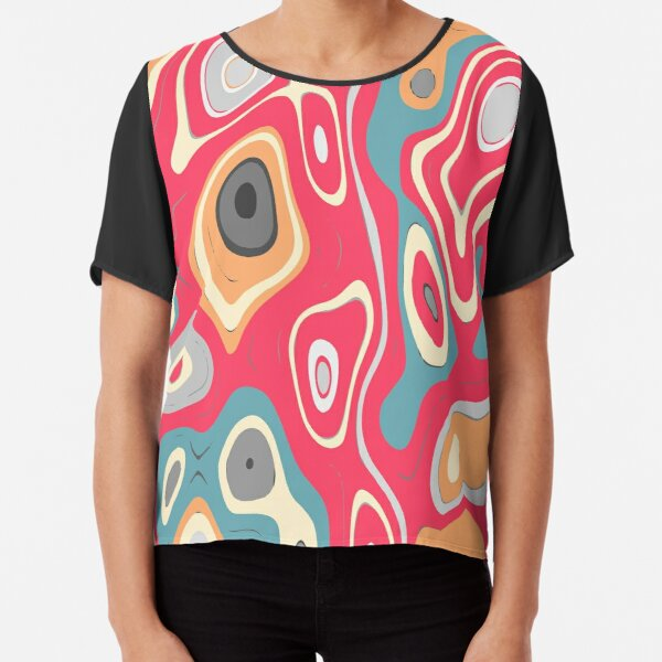 colorful   abstract  background  Chiffon Top