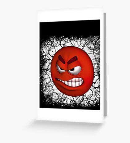 Angry tee Greeting Card
