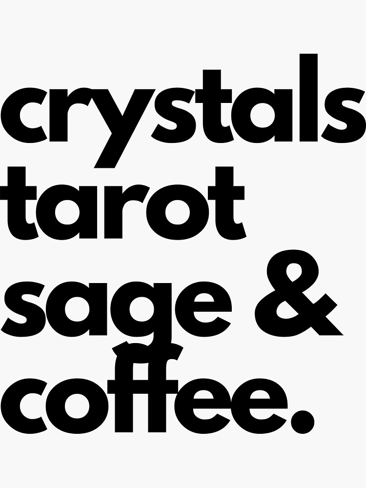 crystals tarot, sage & coffee by CosmicWhaleCo