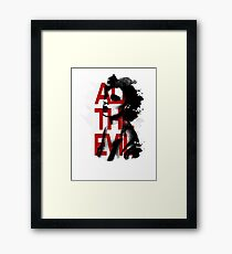 All the Evil Framed Print
