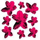 Tropical pop art pink floral pattern by cesarpadilla
