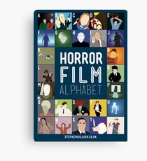 Horror Film Alphabet Canvas Print
