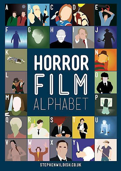 Horror Film Alphabet by Stephen Wildish
