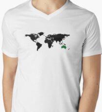 Global super power  Men's V-Neck T-Shirt