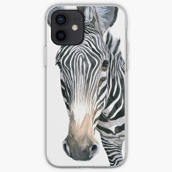 Grevy's Zebra Watercolor iPhone Soft Case