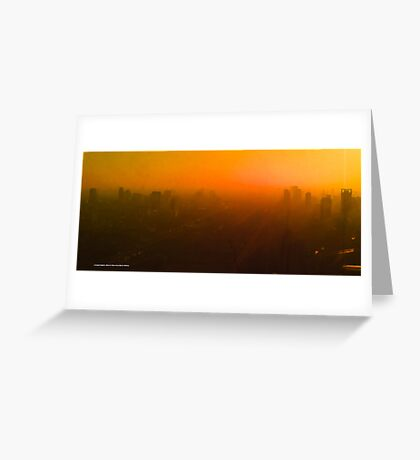 smoggy Bangkok sunrise Greeting Card