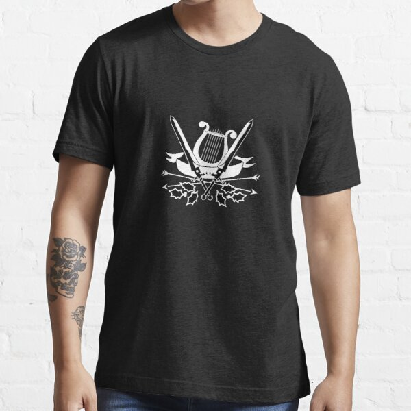 Copy of Lute And Holly leaves - On black Essential T-Shirt