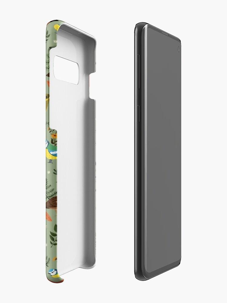 Alternate view of Garden Birds Case & Skin for Samsung Galaxy