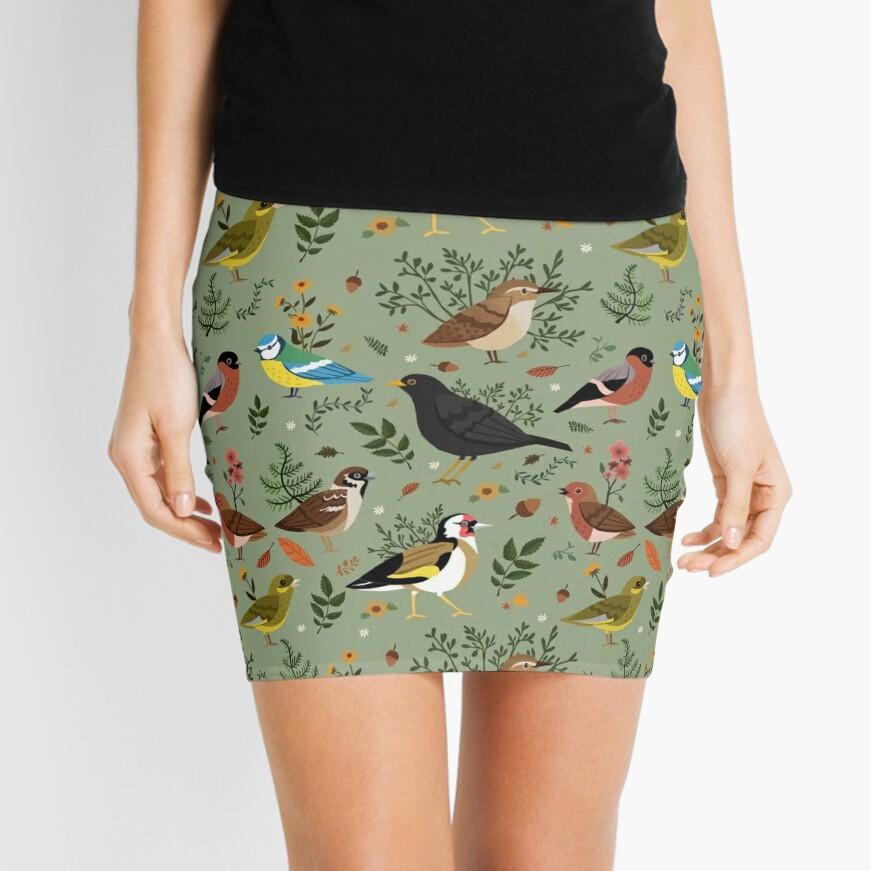 Garden Birds Mini Skirt