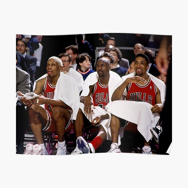 Threepeat Michael Jordan Scottie Pippen