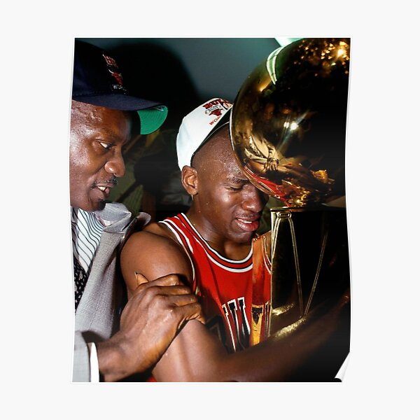 Michael Jordan 1st Championship Poster